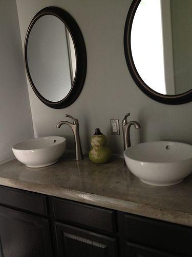 Concrete Countertop Pictures Diy Concrete Countertop Gallery You Can Do A Concrete Overlay On Top Of Existing Counter Tops Concrete Countertops Diy Countertops Concrete Countertops Bathroom