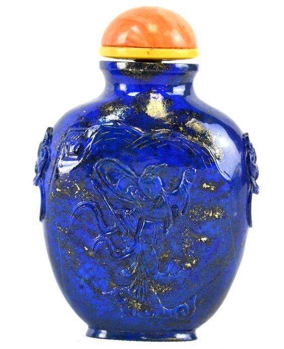 A Chinese Lapis Lazuli Snuff Bottle.