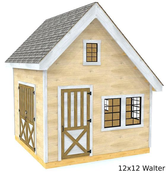 Walter Shed Plan 2 Sizes In 2019 Building A Shed Shed Storage Shed Plans