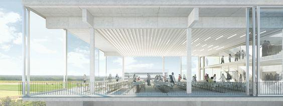 suspended terraces by muoto , via Behance