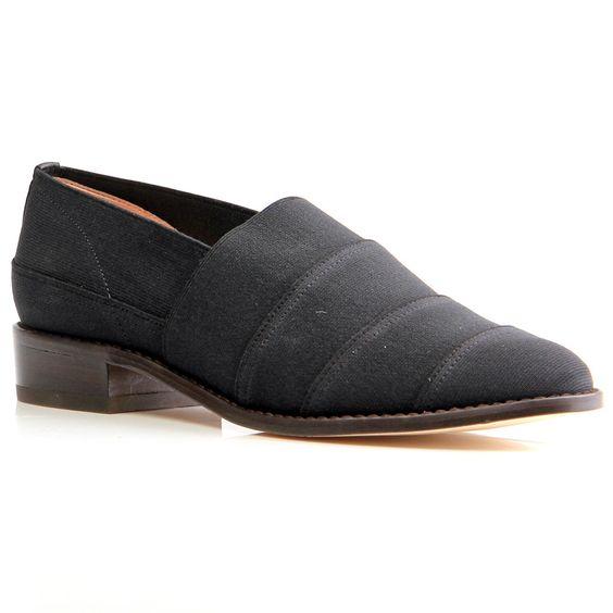 Stuart Weitzman Elastica Slip-on Black Fabric