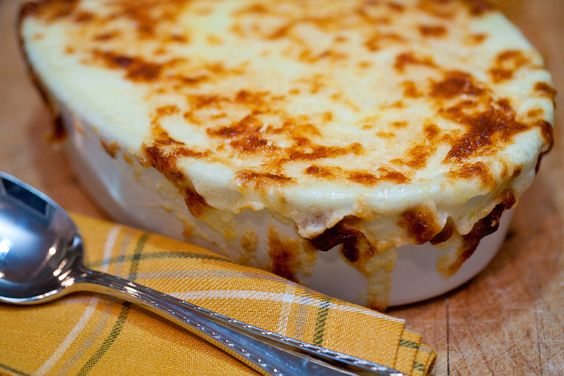 Baked Mashed Potatoes with Gruyere