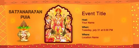 Free Satyanarayan Puja Invitation With India S 1 Online Tool Online Invitation Card House Warming Invitations Invitation Card Design