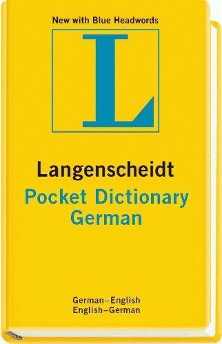 Langenscheidt Pocket Dictionary German (Langenscheidt Pocket Dictionaries) (English and German Edition) by Langenscheidt. Save 26 Off!. $10.29. Series - Langenscheidt Pocket Dictionaries. Publisher: Langenscheidt; Bilingual edition (April 1, 2011). Publication: April 1, 2011