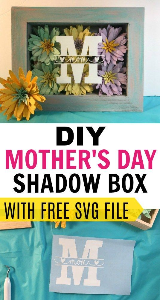 How To Make A Shadow Box Display For Mother S Day Flower Shadow