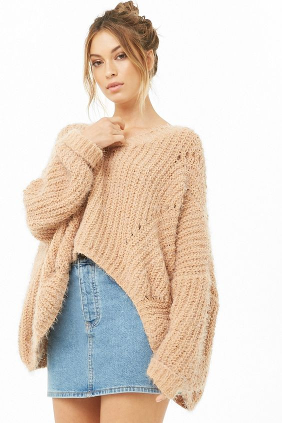 Fuzzy High Low Sweater Collectivestyles Com Fashion Women Apparel Women S Clothes Dresses Outfits Ro Sweaters For Women Sweaters Sweaters Oversized