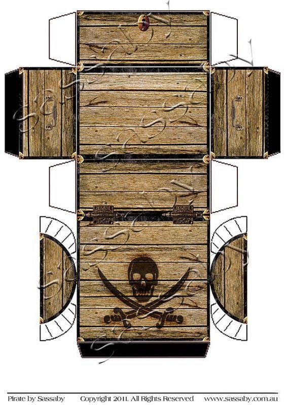image regarding Treasure Chest Template Printable called Pirates Treasure Upper body Box - Quick Obtain - Printable