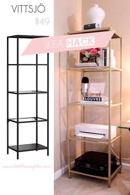 Vittsjo Ikea Hack Decor Pinterest Book Storage