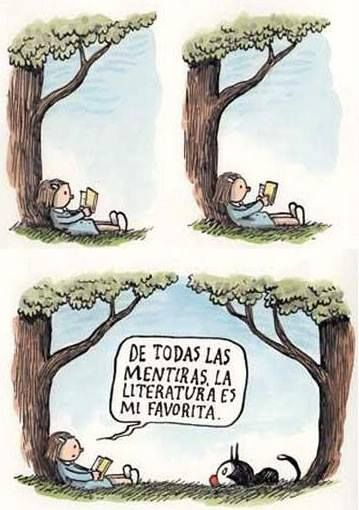 La Enriqueta de Liniers es un personaje delicioso que a menudo manifiesta su amor por los #libros. Elegimos hoy esta historieta, pero nos encantan todas; ¿con cuál te quedas tú?: