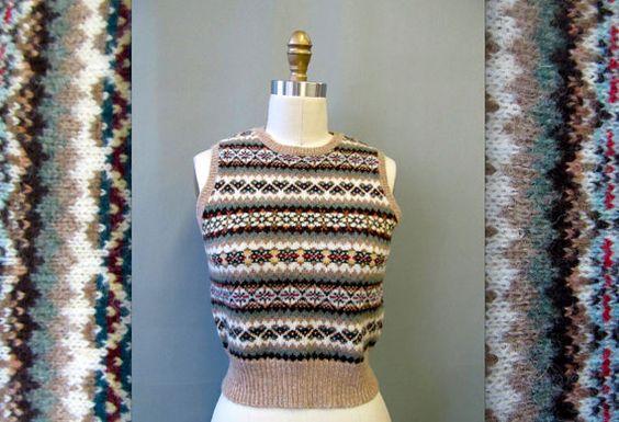 VTG Ralph Lauren Fair Isle Knit Vest on Etsy, Sold
