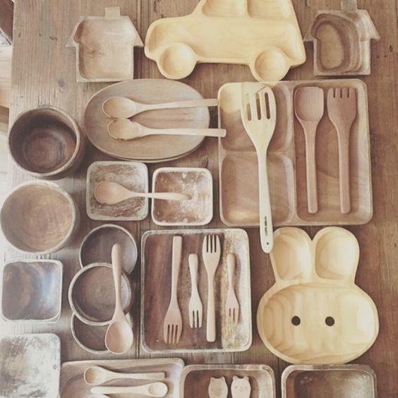 mRさんの、DIY,インスタnoe.mr,100均,ナチュラル,3Coins,ナチュラルが好き♪,木の食器,木のお皿,木の器,いつのまにかたくさん,おうちカフェ,キッチン,のお部屋写真