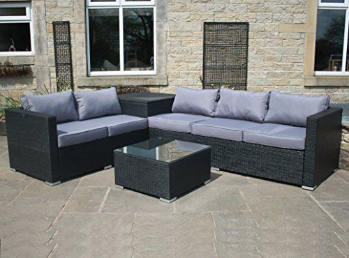 Miraculous Rattan Outdoor Garden Furniture Corner Sofa With Storage Box Alphanode Cool Chair Designs And Ideas Alphanodeonline