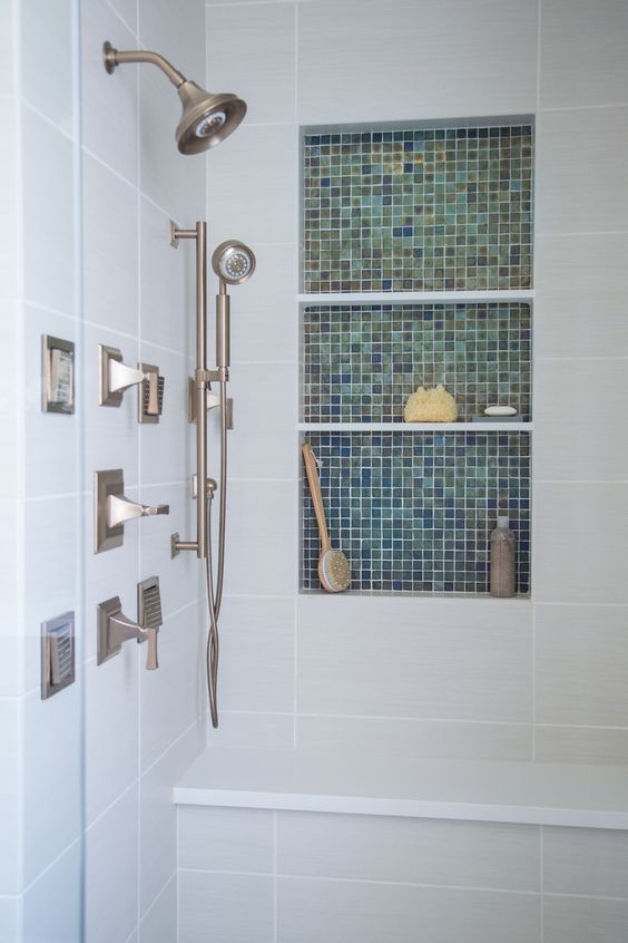 11 Spectacular Shampoo Niches To Inspire The Design Of Your Own Bathrooms Decor Grey Walls