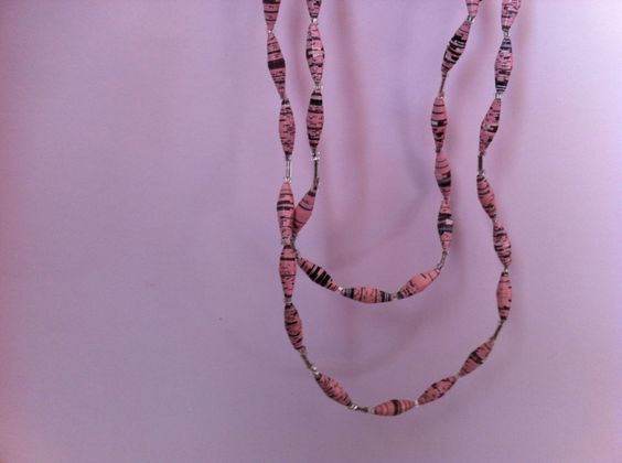 Recycled paper necklace by Sanja