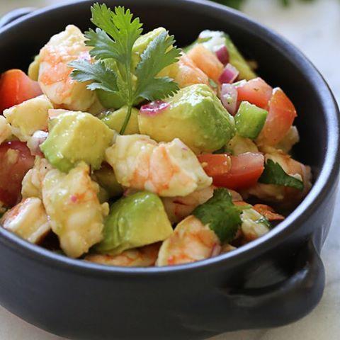 Zesty Lime Shrimp and Avocado Salad @healthyfoodadvice @ ...