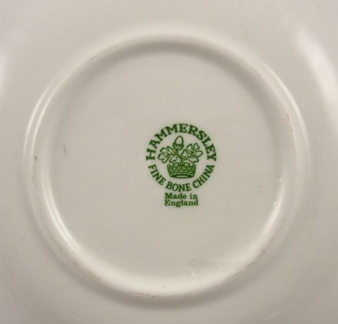 Hammersley fine bone china made in england mark fine for Mode in england
