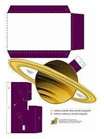 Découpage carte du Système Solaire pour enfants sur HugoLescargot.com