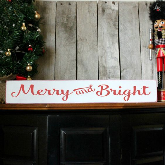 Christmas Wood Sign Holiday Home Decor Merry by PalateForPallets