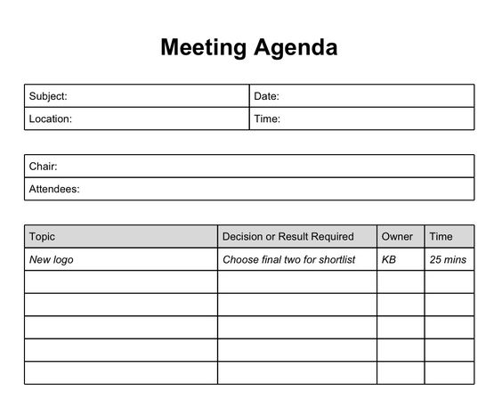 Printable Template Of Meeting Minutes | Long Does It Take The