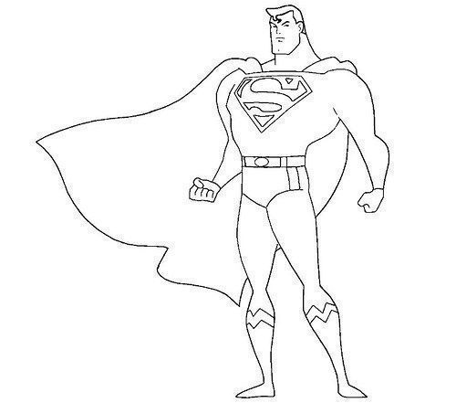 Dibujos Superman Para Colorear Superhero Coloring Pages Superhero Coloring Superman Coloring Pages