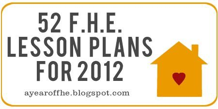 A Year of FHE. Follow along in 2012!    AMAZING!!