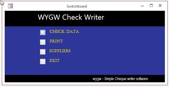 Wygw Cheque Write Software Writing Software Software Support Writing