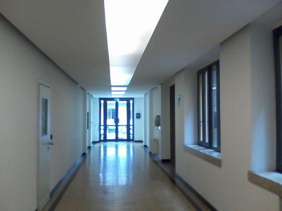 corridoio verso gli spogliatoi