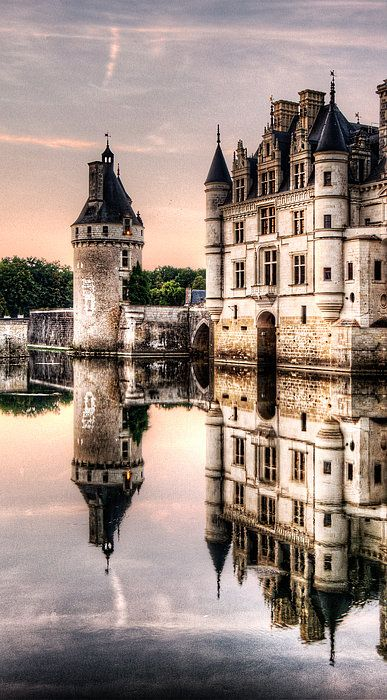 Evening At Chenonceau Castle, France (by Weston Westmoreland):