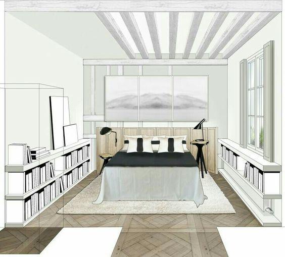 J\'adore ce dessin d\'une chambre. | Chambre perspective | Pinterest