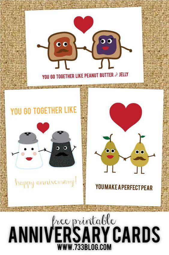Free Printable Wedding or Anniversary Cards