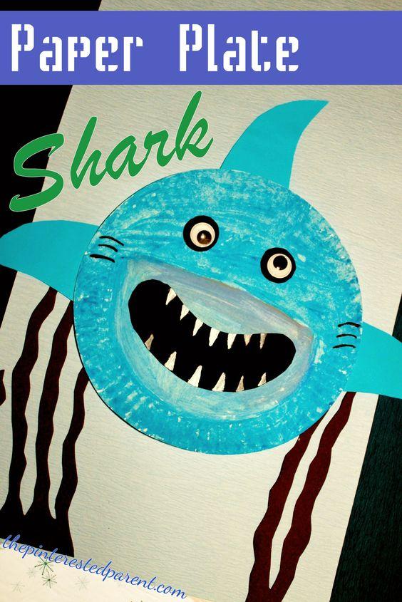 Paper plate shark craft Kid Blogger Network Activities