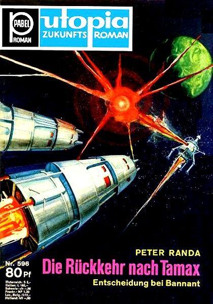 Weltraumabenteuer aus der Reihe Pabel Roman, Utopia Zukunftsroman; Science Fiction / SF / Utopischer Roman / Fantasy; um 1966 Erich Pabel Verlag, 1966.