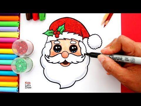 Aprende A Dibujar La Cara De Papa Noel Facil How To Draw Glitter Santa Claus Face Easy Youtube Cara De Papa Noel Papa Noel Dibujo Papa Noel Navideno