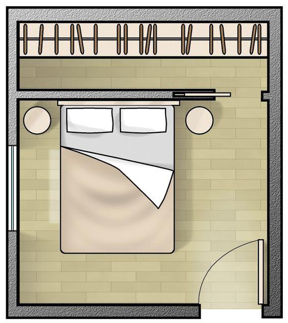 Progettare una cabina armadio dietro la testata del letto ...