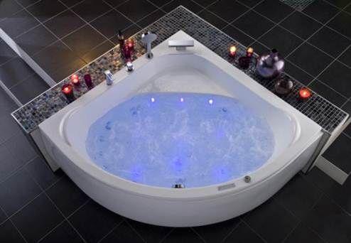 Collection Pack balneo baignoire d'angle - modèle Lagune    Pour transformer votre salle de bains en véritable centre de spa et de balnéothérapie, inutile de la restructurer entièrement. La baignoire balnéo s'adapte à l'espace dont vous disposez..  Vous pouvez ainsi optimiser un angle en y installant la baignoire Lagune: profonde et spacieuse, équipée d'un clavier de commande rétro éclairé ainsi qu'une robinetterie Manhattan à 4 trous. Laissez -vous séduire par les différents systèmes.