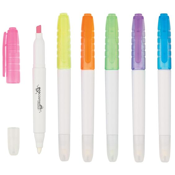 Our Erasable Highlighters come in great colors and can be customized for your business needs. We have a non-toxic chisel tip highlighter on one end and an easer on the other. These are great promo items for bookstores, schools and legal firms.
