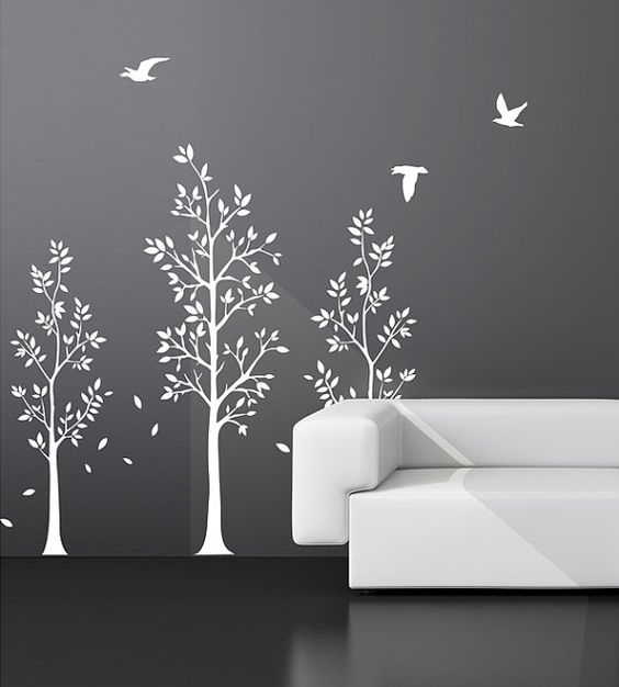 Vinyl Wall Art Tree Decals  Nursery Birds by NurseryWallArt, $79.99