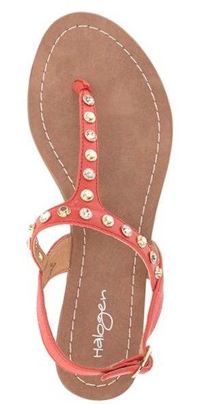 cute orange studded sandals