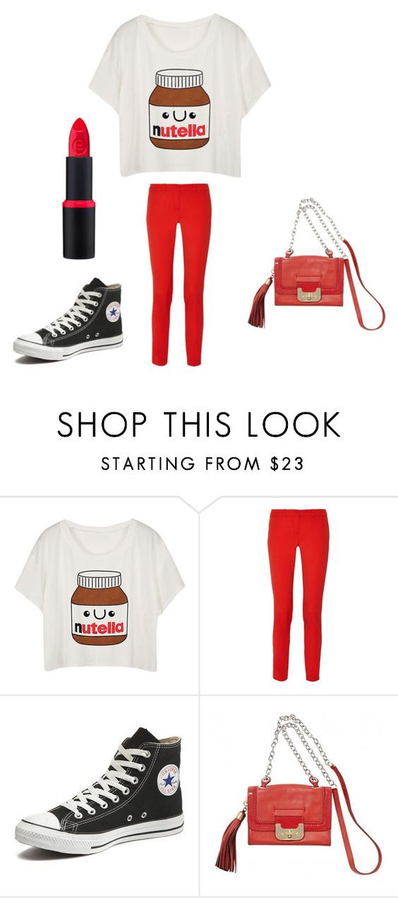 """""""nutella themed"""" by noelani-143 ❤ liked on Polyvore featuring moda, Michael Kors, Converse e Diane Von Furstenberg"""
