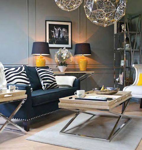 Chic black sofas at Benjamin's Interiors  Cardiff.