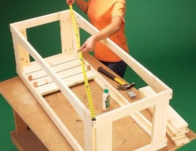 How to build an outdoor storage bench. Step by step instructions and ...