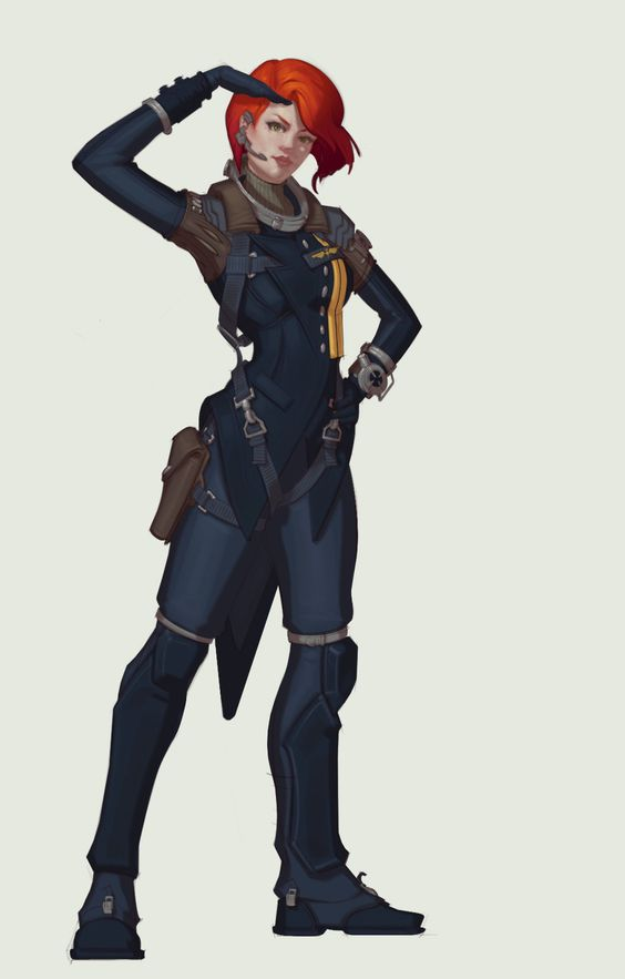 Science fiction female pilot