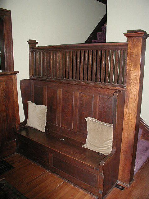 Pictures Of Sundecks Stairs And Benches: Craftsman Stairs With Built-in Bench.