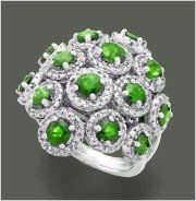 """""""Relyea""""...only $2,900 or P127,600!! Designer !!! 3.71ctw Diamond & Emerald Ring/ 12.240G! Imported, world-class quality, not pre-owned, not pawned, not stolen."""