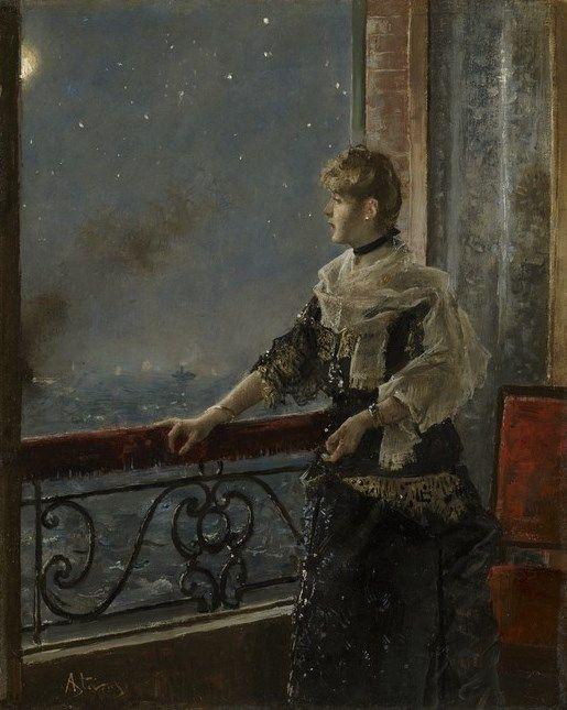 Alfred Émile Léopold Stevens (c.1885):