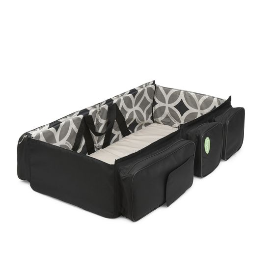 """diaper bag changes into a baby bed...""""ABSOLUTELY a life saver on our 23 hours of flying, international airports and traveling...was a gift and have passed it on to other with little babies, but still miss it"""": Baby Idea, Diaper Bags, Travel Bags, Travel Bassinet, Quicksmart Travel, Bassinet Diaper, Baby Stuff"""