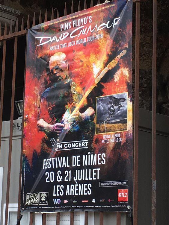 David Gilmour arènes de Nîmes