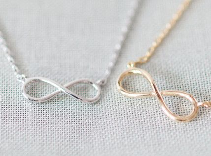 Infinity Necklaces. I like the silver one