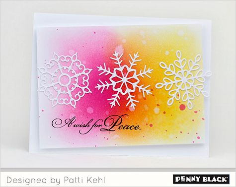 Simply elegant card ideas featuring stamps and dies from Penny Black's newest collection, Magic of the Season 2016