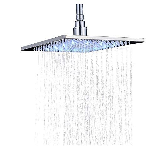 Rozin Chrome Bathroom 10 Inch Rainfall Shower Head Led Light